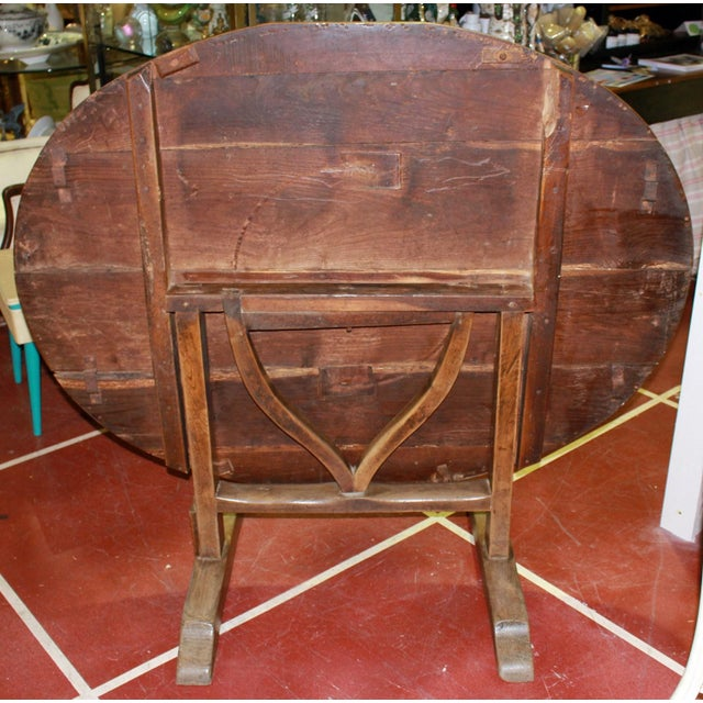 Antique French Wine Tasting Table - Image 7 of 8