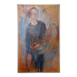 1949 Self-Portrait by Stig Lindberg For Sale