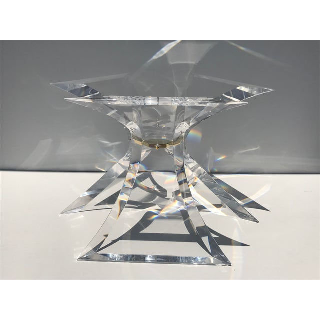 Lion in Frost Lucite Tripod Base Dining Table - Image 4 of 10