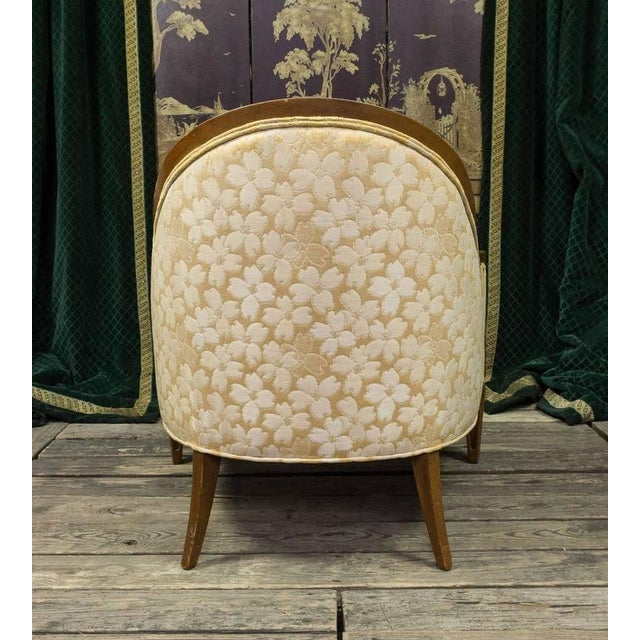 Pair of French, 1950s Rounded Armchairs - Image 6 of 11