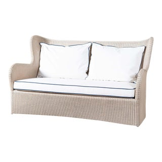 Outdoor Resin Wicker Butterfly Sofa For Sale