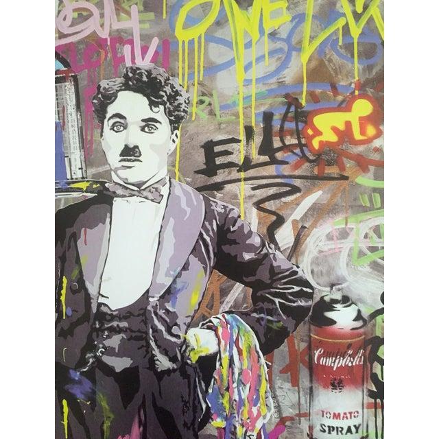 "Mr. Brainwash "" Charlie Chaplin "" Original Lithograph Print Pop Art Poster - Image 8 of 11"