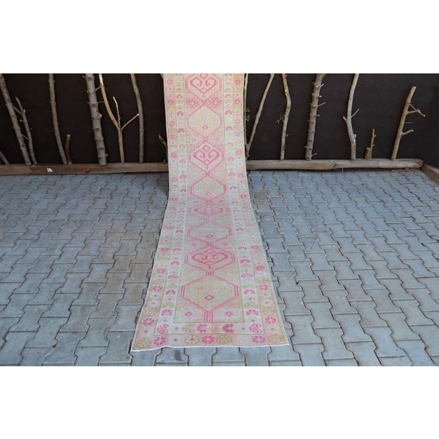 Textile 1960s Turkish Handmade Hallway Runner-2'7x12'1 For Sale - Image 7 of 11