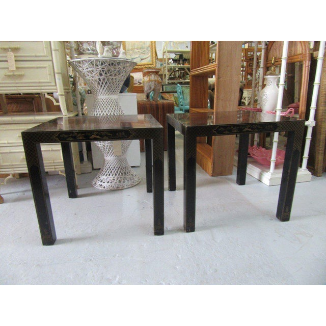 Asian Inspired Drexel Side Tables - a Pair - Image 8 of 9