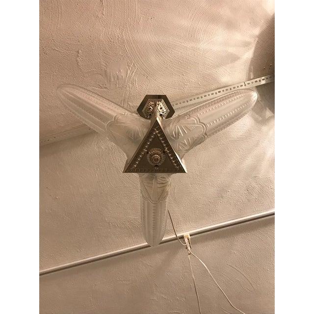 French Art Deco Triangular Starburst Chandelier For Sale In New York - Image 6 of 12