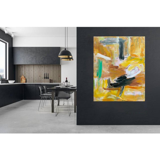 """Canvas """"Eagle's Nest"""" by Trixie Pitts XL Painterly Abstract Expressionist Oil Painting For Sale - Image 7 of 13"""