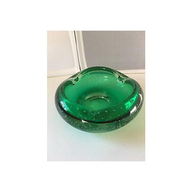 Emerald Green Murano Bowl - Image 2 of 4
