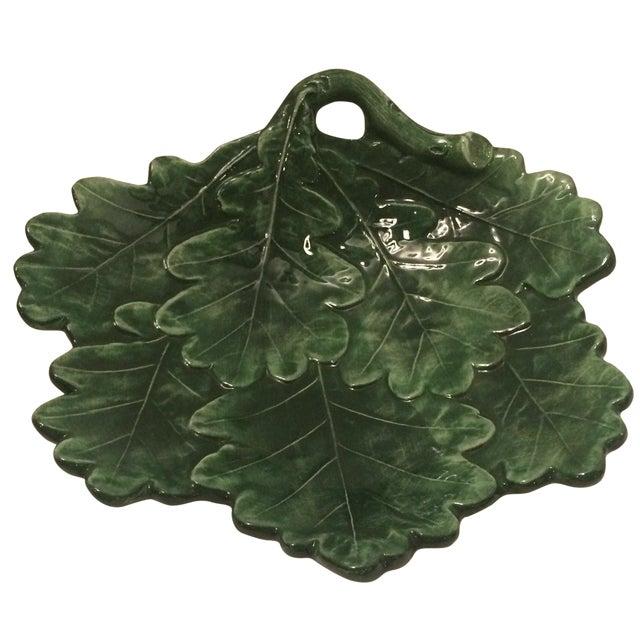 Majolica-Style Leaf Dish - Image 1 of 6