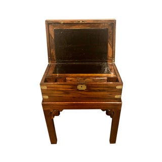 19th Century Vintage English Mahogany Lap Desk on Stand Preview