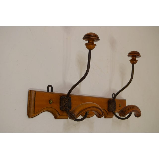 French Cherry Coat/Hat Rack - Image 3 of 8