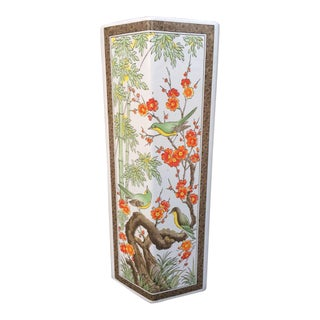 Asian Inspired Hexagon Vase For Sale