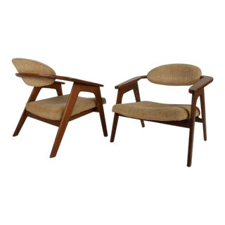 Pair of Mid-Century Modern Captain's Chairs by Adrian Pearsall For Sale