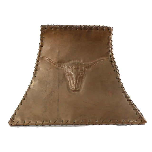 1920s Ranch Cowboy Lamp Shade, Copper - Image 2 of 8