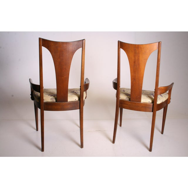 Mid Century Modern Broyhill Brasilia Dining Chairs - A Pair - Image 5 of 11