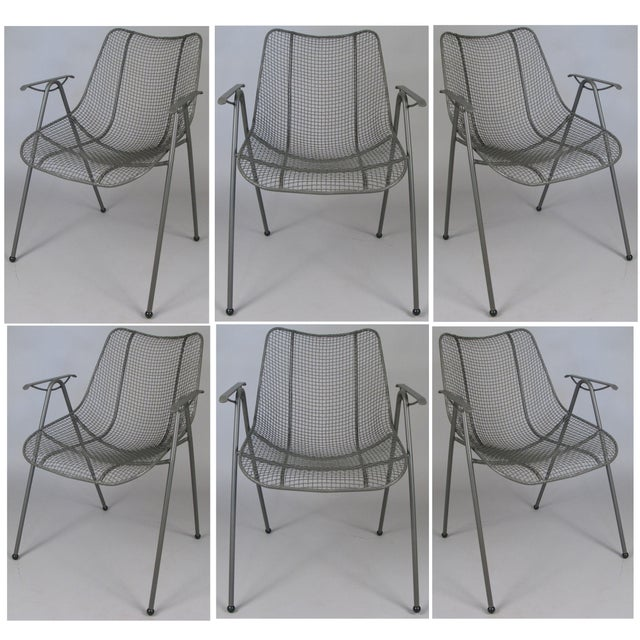 1950's Woodard Sculptura Patio Dining Chairs - Set of 6 For Sale - Image 12 of 12