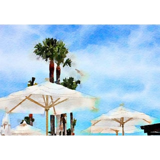 Beach Umbrellas - Contemporary Digital Print by Suzanne MacCrone Rogers For Sale