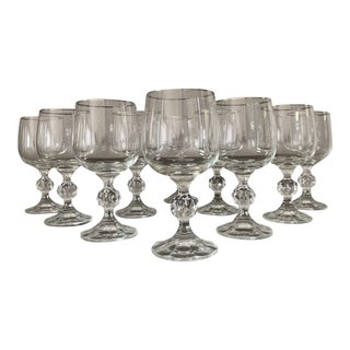 1970s Mid Century Wine Glasses - Set of 10 For Sale