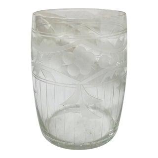 Antique Etched Glass Bud Vase For Sale