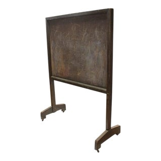 Late 19th C. Antique American School Floor Double Sided Chalkboard For Sale