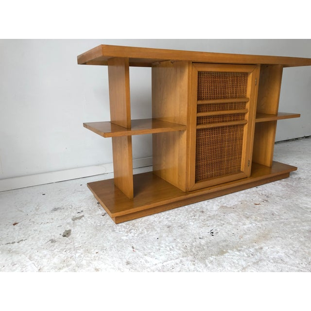 Modern Midcentury Modern Sofa Table Book Case Maple Apartment Size For Sale - Image 3 of 7