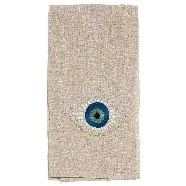 Evil Eye Tea Towel For Sale - Image 4 of 4