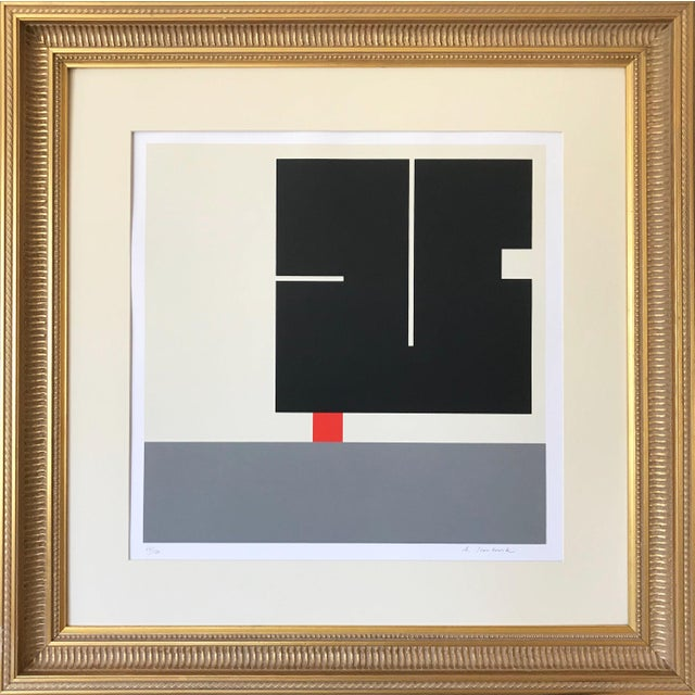 Vintage Geometric Abstract Op Art Serigraph by Anton Stankowski C. 1970s For Sale In New York - Image 6 of 6