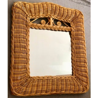 Vintage Small Rattan Mirror Preview
