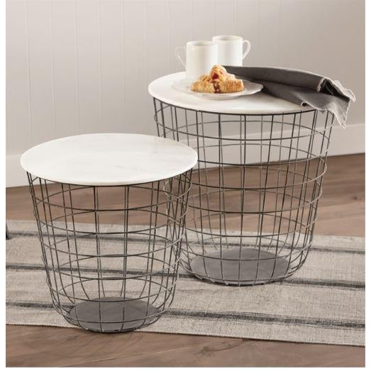 Streamlined and clean in design, these Terrace Tables are multi-functional. Store linens or toilet rolls below and set...
