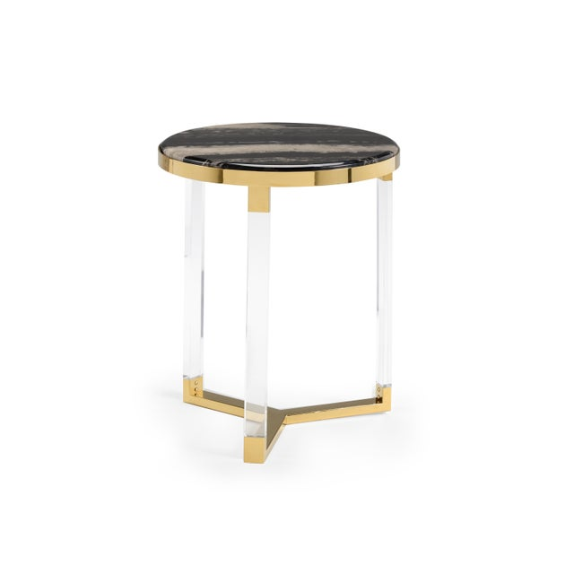 Contemporary Chelsea House Inc Lovelock Side Table For Sale - Image 3 of 3