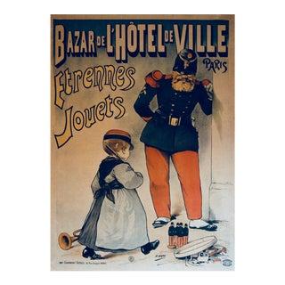 Vintage Bazar De l'Hotel De Ville Etrennes Jouets Poster