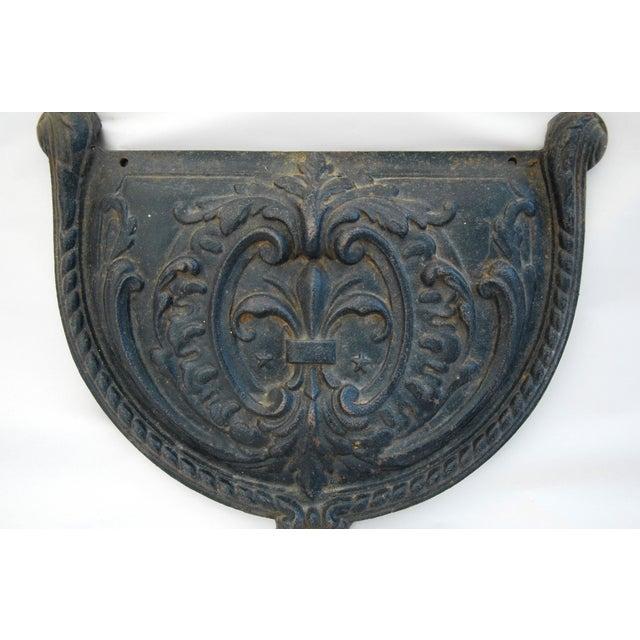 19th C. French Fleur-De-Lis Iron Relief Plaque - Image 3 of 8