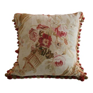 Antique Aubusson Pillow For Sale