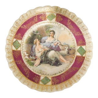 Royal Copenhagen Plate With Painting by Francois Boucher
