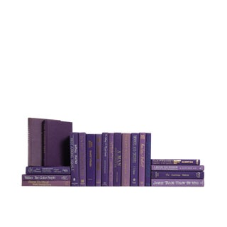 Retro Royal Purple : Set of Twenty Decorative Books For Sale