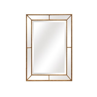 Roxeburghe Antique Gold Beaded Wall Mirror
