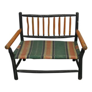 Antique Adirondack Children's Bench For Sale