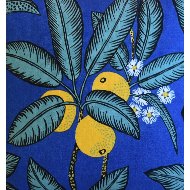 """Josef Frank Designer Josef Frank """"Notturno"""" Floral Linen Feather/Down Pillows 18"""" Square - Pair For Sale - Image 4 of 11"""