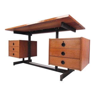 Mid-Century Modern Floating Top Desk For Sale