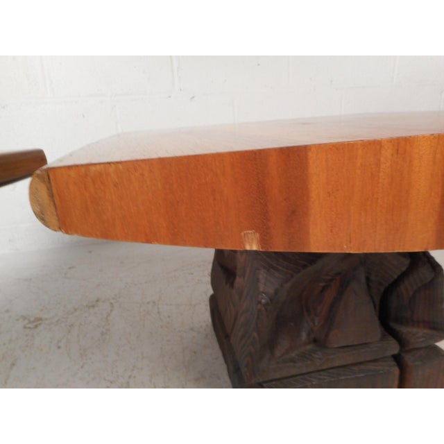 Wood Pair of Midcentury Totem End Tables by Witco For Sale - Image 7 of 13