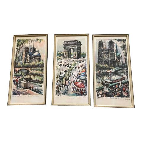 Framed Marius Gerard Prints - Set of 3 For Sale