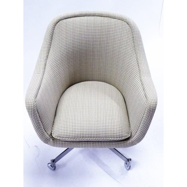 Chrome Ward Bennett for Brickel Associates,Bumper Office Desk Armchair on Casters. For Sale - Image 7 of 12