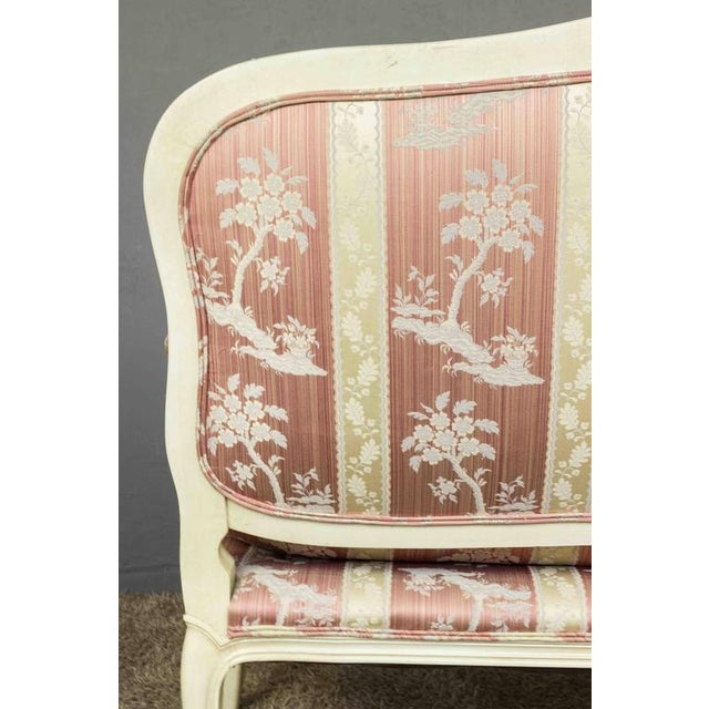 Louis XV Style Settee With Painted Finish - Image 9 of 11