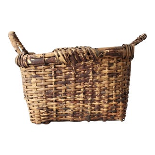 Vintage Double Handled Basket