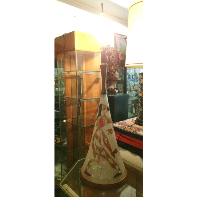 Mid Century Harlequin Lamp, Style of Marc Bellaire - Image 3 of 6