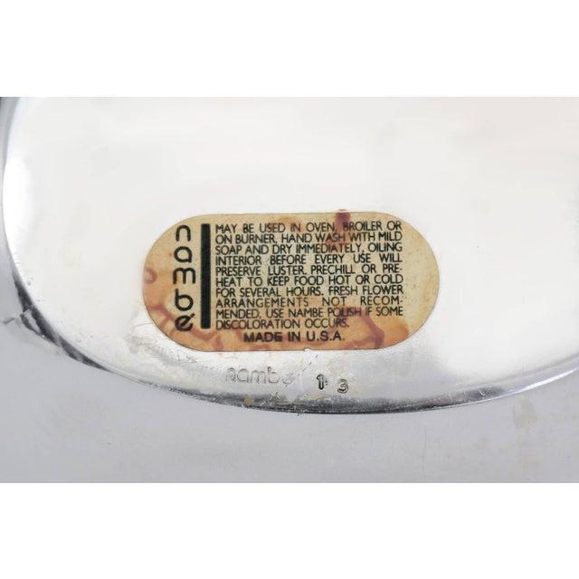 Minimalism Vintage Minimal Stainless Steel Nambe Serving Bowl For Sale - Image 3 of 3