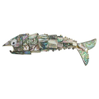 Abalone Jointed Fish Bottle Opener For Sale