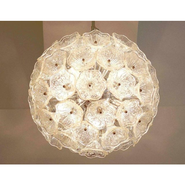 Sputnik Chandelier with Murano Glass Flowers, 1960s For Sale - Image 4 of 6