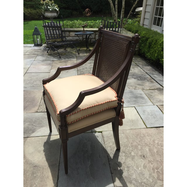 Cane Backed Side Chair With Custom Cushion For Sale - Image 9 of 9