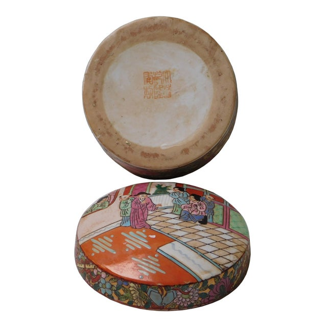 Oriental Porcelain Scenery Box - Image 5 of 6