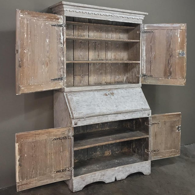 Gray 19th Century Swedish Painted Secretary For Sale - Image 8 of 13